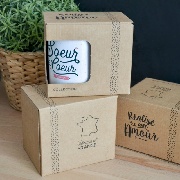 "Mug ""Soeur de Coeur Forever"" Packaging"