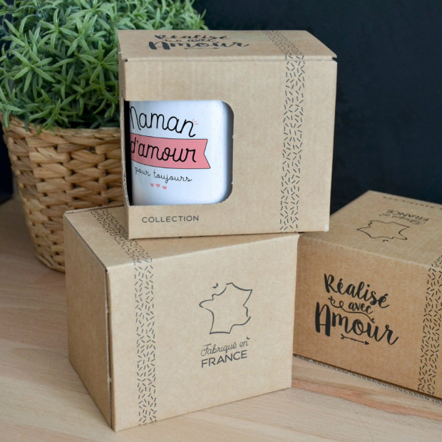 """Mug """"Maman d'Amour pour Toujours"""" Packaging"""