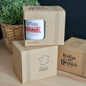 "Mug ""Maman d'Amour pour Toujours"" Packaging"