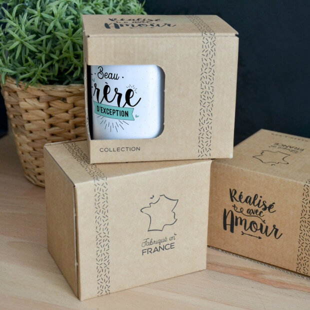 """Mug """"Beau Frère d'Exception"""" Packaging"""