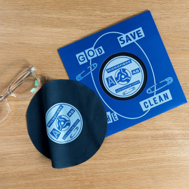 "Disque Vinyle en Microfibre ""God Save the Clean"""