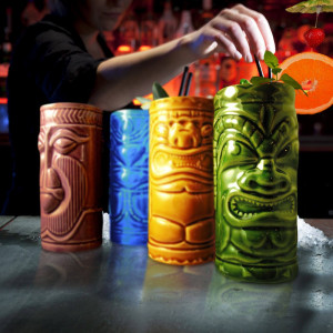 Mugs à Cocktail Tiki (x4) 4 Coloris