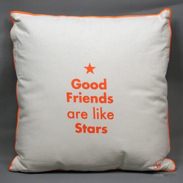 Coussin « Good Friends are Like Stars »