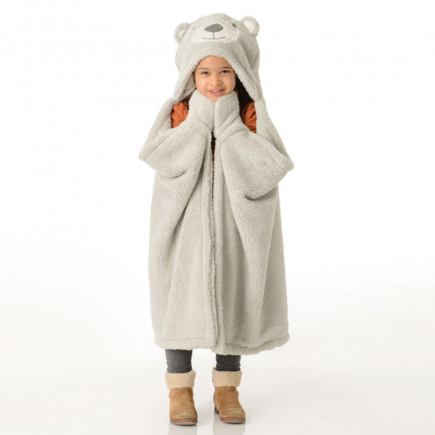 Plaid Ours Enfant Gris
