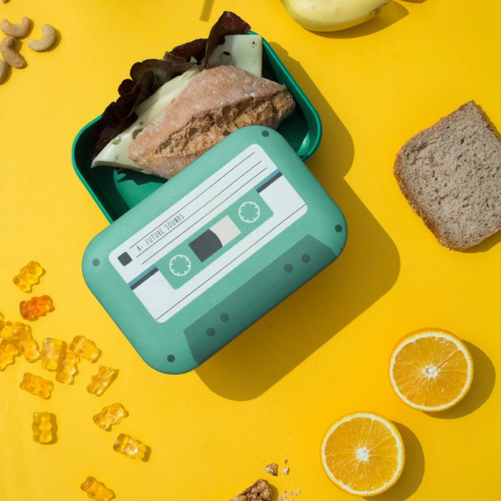 Lunch Box Cassette en Fibres de Bambou