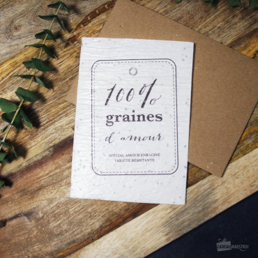 "Carte à Planter ""100% Graines d'Amour"""