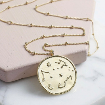 Collier Doré Constellations