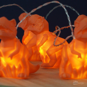 Guirlande Lumineuse Dinosaure Orange