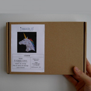 Papercraft Licorne 3D à Construire Packaging
