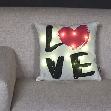 "Coussin Lumineux ""Love"""