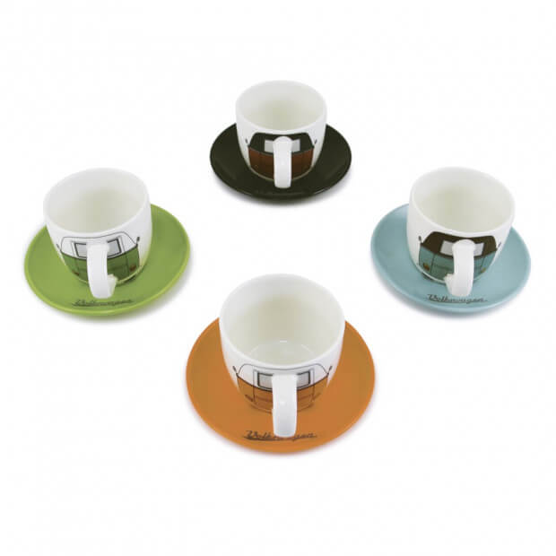 Set Tasses Expresso Combi VW (x4) Colorés