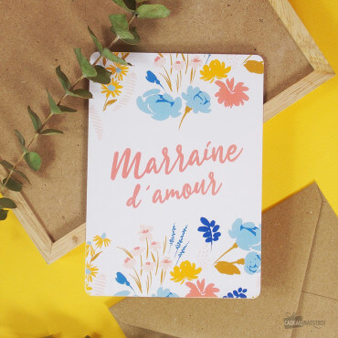 Carte Marraine d'Amour