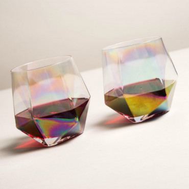 Verres Diamant Iridescents (x2)