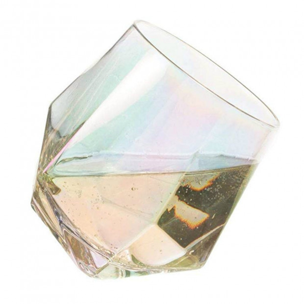 Verres Diamant Iridescents (x2) Inclinaison