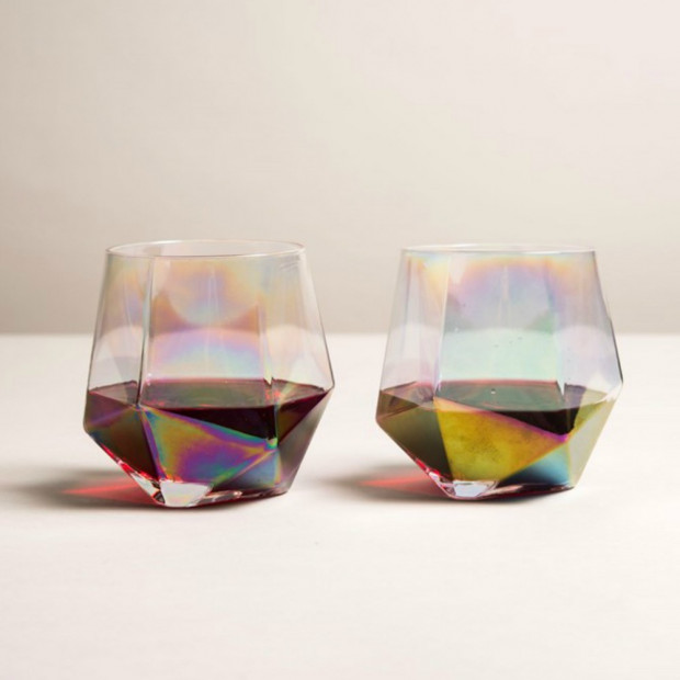 Verres Diamant Iridescents (x2) Whisky