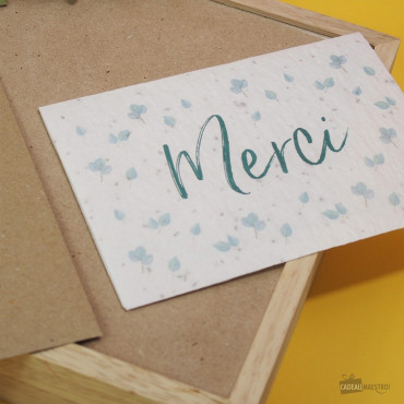 "Carte à Planter ""Merci"" Carte de remerciements"