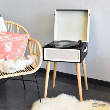 Platine Vinyle Bluetooth retro