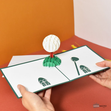 Carte Pop-Up 3D Golf
