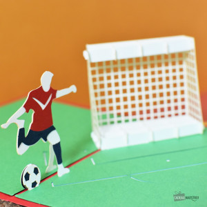 Carte Pop-Up 3D Football