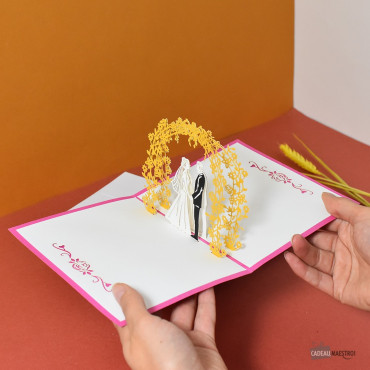Carte Pop-Up 3D Mariage