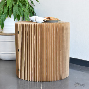 Table Basse en Kraft Pliable 50x50 cm