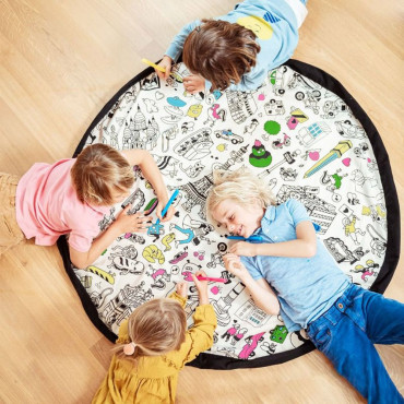 Sac Tapis de Jeu Play and Go à Colorier OMY