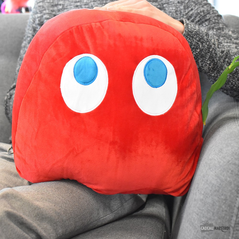 Coussin Pac-Man Blinky moelleux