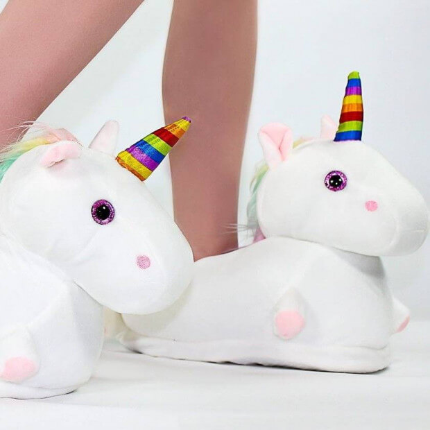 Chaussons Licorne Lumineux pieds