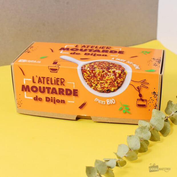 Coffret Moutarde de Dijon à Faire Soi-Même Le packaging