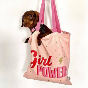 Tote Bag Girl Power paillettes