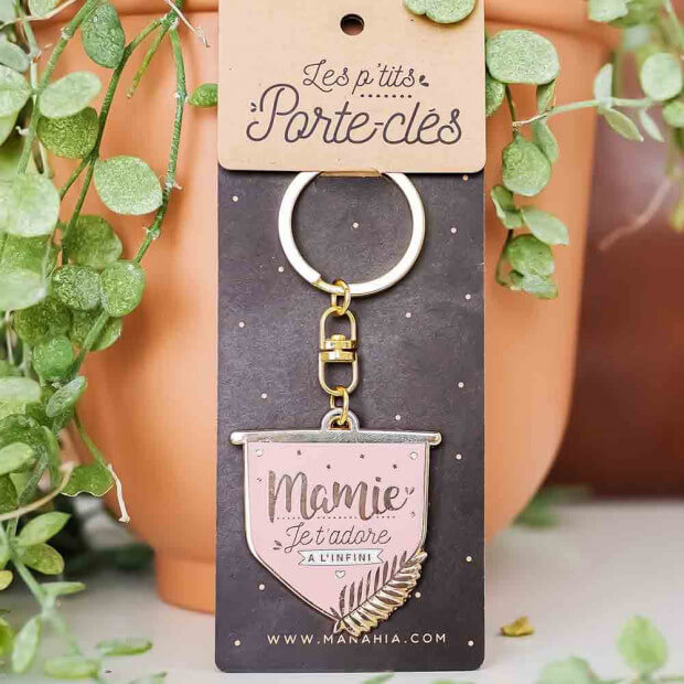 "Porte-Clés ""Mamie Je t'Adore"" Packaging"