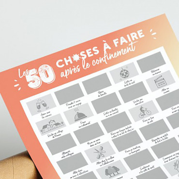 Poster à Gratter 50 Choses à Faire Après le Confinement