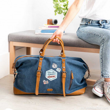 "Sac de Week-End ""Next Stop : My Greatest Adventure"" Rangez toutes vos affaires"