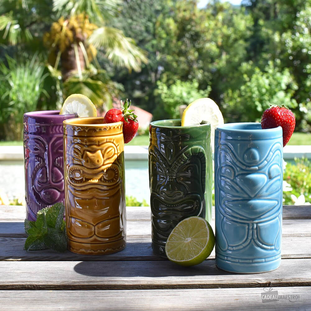 Mugs à Cocktail Tiki (x4)