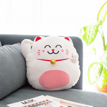 Coussin Lucky Cat Mr Wonderful Attirez la chance chez vous