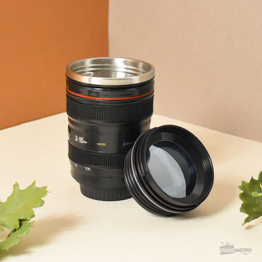 Mug Isotherme Objectif Photo Lentille