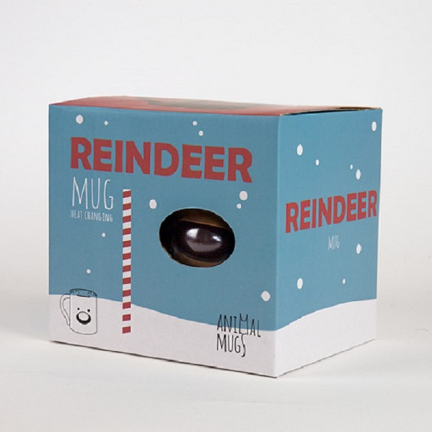 Mug Renne de Noël Thermoréactif Packaging