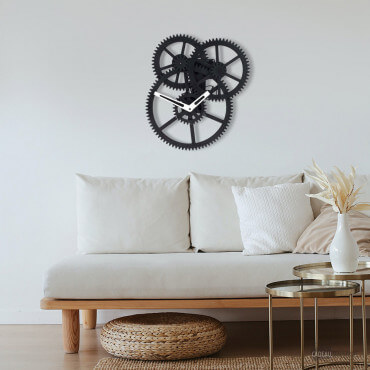 Horloge Triple Engrenages Tendance