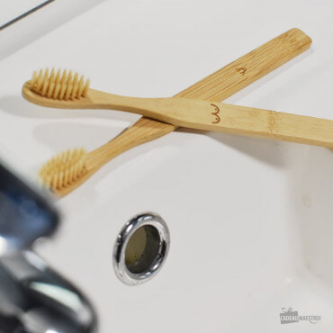 Set de Brosses à Dents Nudistes en Bambou (x2) Couple romantique