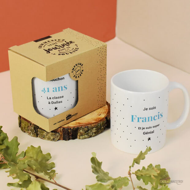 Mug L'Unique à Personnaliser Packaging en Kraft