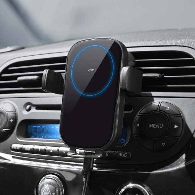 Support Smartphone Chargeur à Induction Support Smartphone Chargeur à Induction Grille ventilation