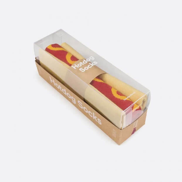 Chaussettes Hot Dog Chaussettes Hot Dog packaging