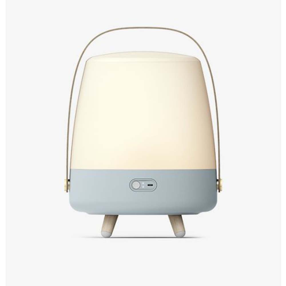 Lampe Enceinte Bluetooth Lite-up Play Lampe Enceinte Bluetooth Lite-up Play bleu clair allumée fond clair