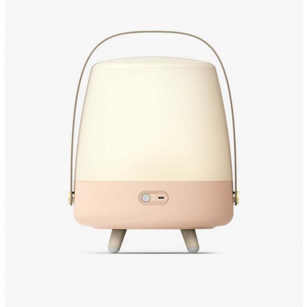 Lampe Enceinte Bluetooth Lite-up Play Lampe Enceinte Bluetooth Lite-up Play rose allumée fond clair