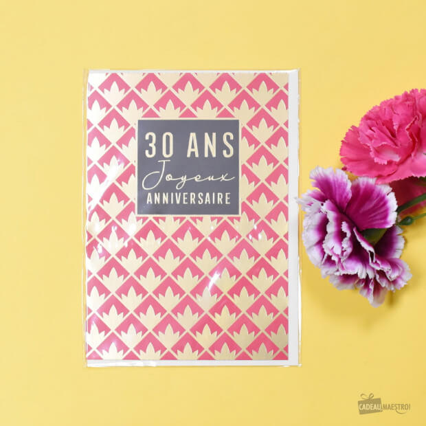 Carte Double 30 ans Packaging