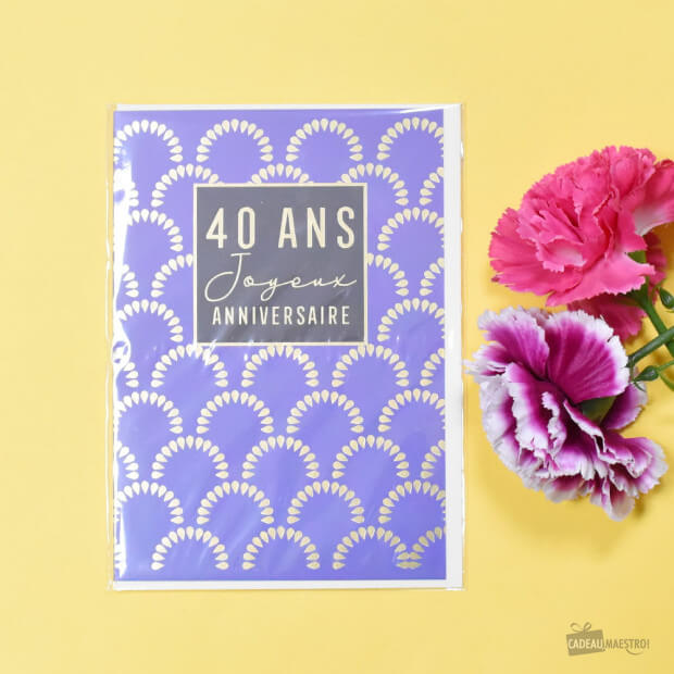 Carte Double 40 Ans Packaging
