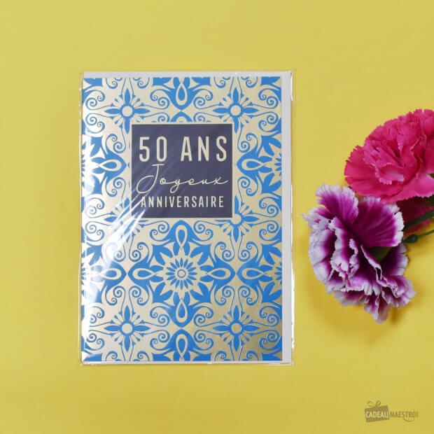 Carte Double 50 Ans Packaging