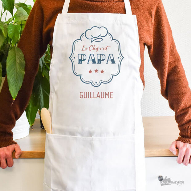 Tablier Chef Papa à Personnaliser Original