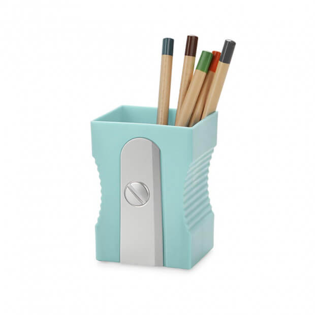 Pot à Crayons Taille Crayons Couleur turquoise